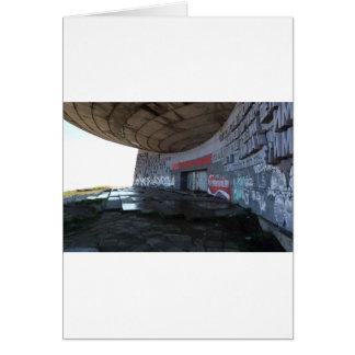 Entrance to Buzludzha, Balkan Mountains, Bulgaria Card