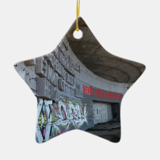 Entrance to Buzludzha, Balkan Mountains, Bulgaria Christmas Ornament