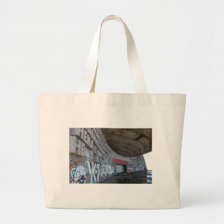 Entrance to Buzludzha, Balkan Mountains, Bulgaria Large Tote Bag