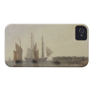 Entrance to Calais Harbour, 1829 (w/c, pen & ink, iPhone 4 Case