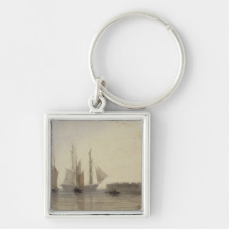 Entrance to Calais Harbour, 1829 (w/c, pen & ink, Key Ring