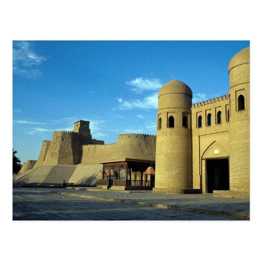 Entrance to city, Khiva, Uzbekistan Post Cards
