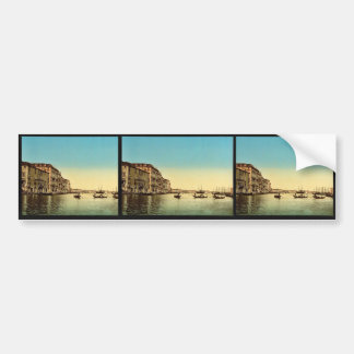 Entrance to Grand Canal, Venice, Italy vintage Pho Bumper Stickers