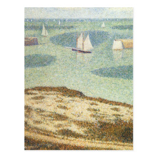 Entrance to Harbor by Georges Seurat, Vintage Art Postcard