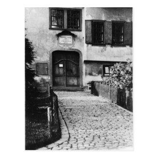Entrance to Johann Sebastian Bach s house Post Cards