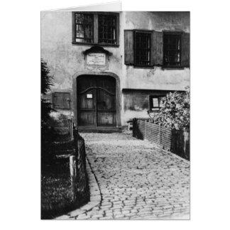 Entrance to Johann Sebastian Bach's  house Card