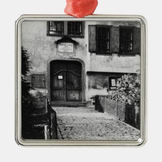 Entrance to Johann Sebastian Bach's  house Christmas Ornament