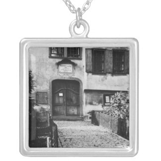 Entrance to Johann Sebastian Bach's  house Silver Plated Necklace
