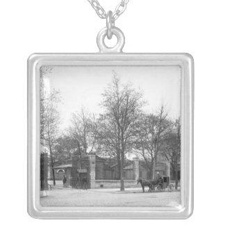 Entrance to 'La Halle aux Vins' Quai Silver Plated Necklace