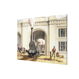 Entrance to Locomotive Engine House, Camden Town, Stretched Canvas Prints