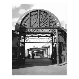 Entrance to North Pier B/W Post Card