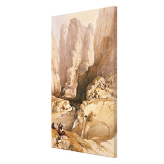 Entrance to Petra, March 10th 1839, plate 98 from Canvas Print