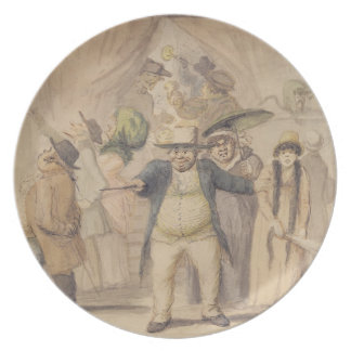 Entrance to Pidcock's Exhibition Tent at a Fair (p Dinner Plate
