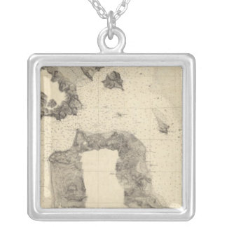 Entrance to San Francisco Bay California Silver Plated Necklace