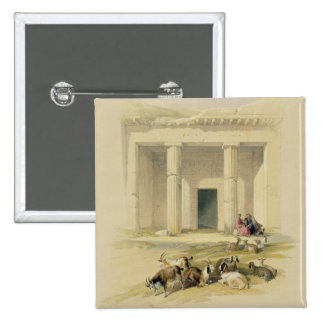 """Entrance to the Caves of Bani Hasan, from """"Egypt a Pinback Button"""