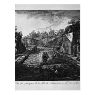 Entrance to the city of Pompeii with the existing Postcard