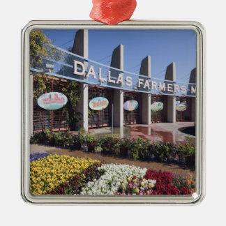 Entrance to the Dallas Farmers Market Silver-Colored Square Decoration