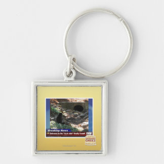 Entrance to the Dark Side Silver-Colored Square Key Ring