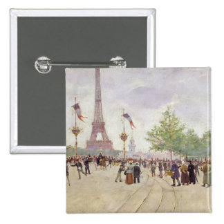 Entrance to the Exposition Universelle, 1889 15 Cm Square Badge