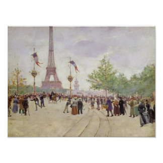 Entrance to the Exposition Universelle, 1889 Poster