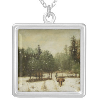Entrance to the Forest in Winter Silver Plated Necklace