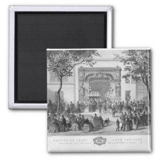Entrance to the 'Grand Cafe Parisien', Paris Fridge Magnet