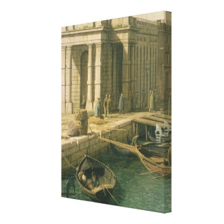Entrance to the Grand Canal: Looking West, c.1738- Canvas Print