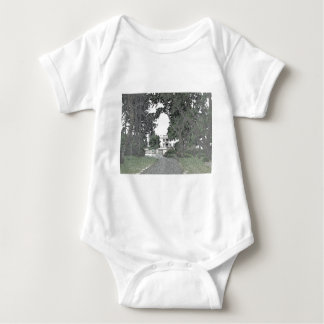 Entrance to the Mansion Through the Trees Baby Bodysuit