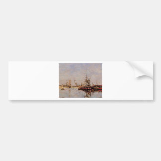 Entrance to the Port of Le Havre by Eugene Boudin Bumper Sticker
