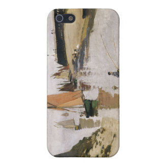Entrance to the Port of Trouville - Claude Monet Cover For iPhone 5/5S