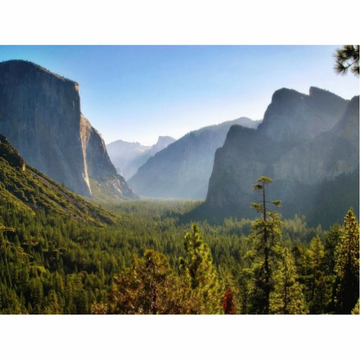 Entrance To The Yosemite Valley Standing Photo Sculpture