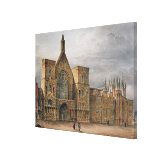 Entrance to Westminster Hall, 1807 Canvas Print