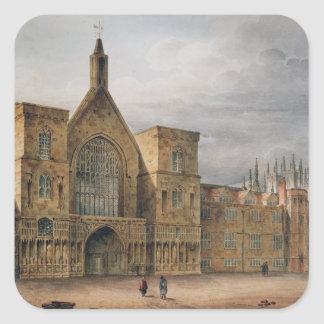 Entrance to Westminster Hall, 1807 Square Sticker