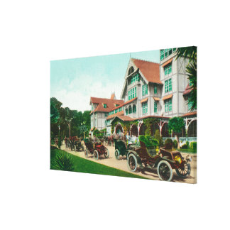 Entrance View of Exterior of Hotel del Monte Stretched Canvas Prints