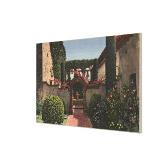 Entrance View of the Sacred Garden Stretched Canvas Print