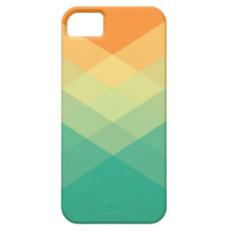 Entrecroisés Geometric Abstract Orange and Green Barely There iPhone 5 Case