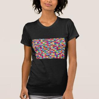 entrelaçado de tecidos tshirts