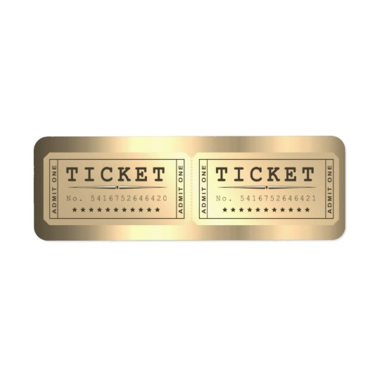 Entrence Entreatment Ticket Show Foxier Gold Return Address
