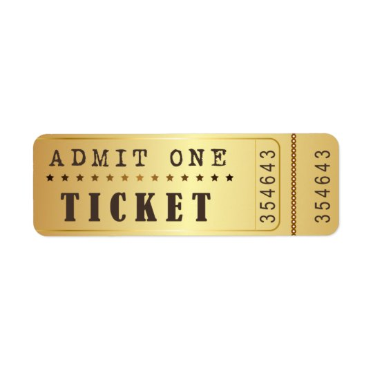 Entrence Entreatment Ticket Show Vintage Gold
