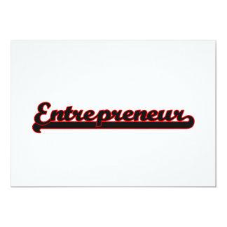 Entrepreneur Classic Job Design 13 Cm X 18 Cm Invitation Card