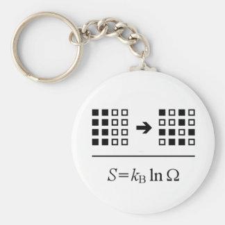 Entropy Basic Round Button Key Ring
