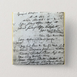 Entry in the Halle University records 15 Cm Square Badge