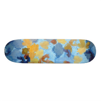 Entry into painting competition skateboards