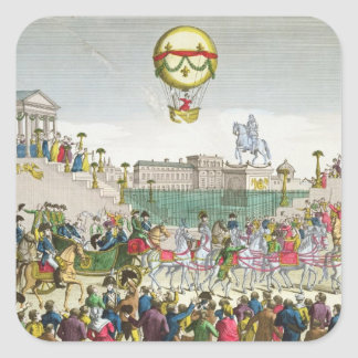 Entry into Paris of Louis XVIII  4th May 1814 Square Sticker