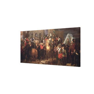 Entry of Henri IV into Paris, 22nd March 1594 Canvas Print