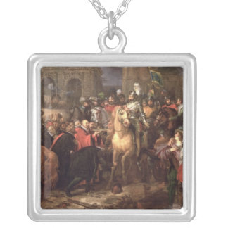 Entry of Henri IV into Paris, 22nd March 1594 Silver Plated Necklace