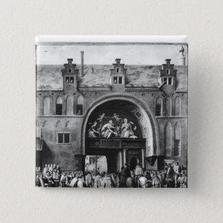 Entry of Hercule Francois of France 15 Cm Square Badge