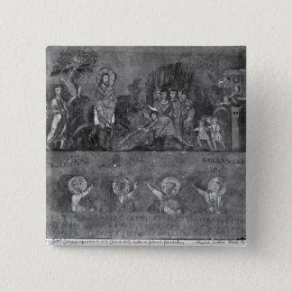 Entry of Jesus into Jerusalem 15 Cm Square Badge
