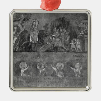 Entry of Jesus into Jerusalem Silver-Colored Square Decoration