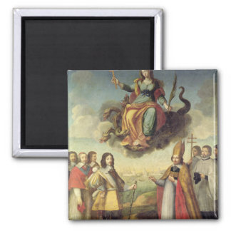 Entry of Louis XIII  King of France and Square Magnet